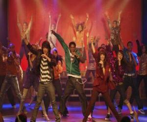 Puzzle de Shane (Joe Jonas) cantando junto Mitchie Torres (Demi Lovato) en la Final Jam