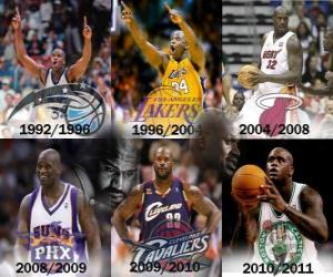Puzzle de Shaquille O'Neal considerado como el jugador más dominante de la historia de la NBA. El 1 de junio de 2011 anunció su retirada