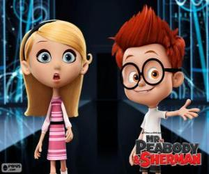 Puzzle de Sherman y Penny, dos compañeros de clase