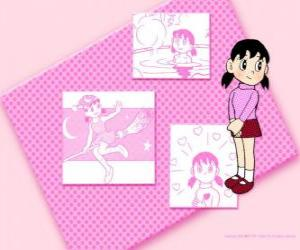 Puzzle de Shizuka Minamoto es la única niña del grupo