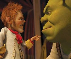 Puzzle de Shrek es embaucado al firmar un pacto con el afable negociador Rumpelstiltskin
