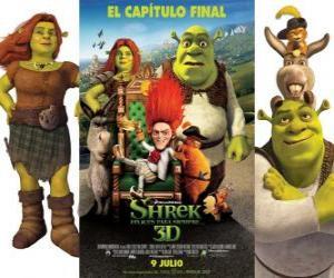 Puzzle de Shrek felices para siempre o Shrek para siempre
