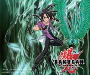 Puzzle de Shun y su Bakugan Ventus