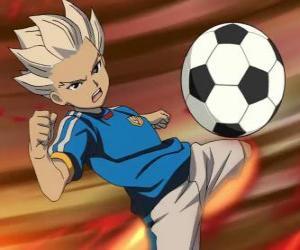 Puzzle de Shuya Gouenji o Axel Blaze, delantero y mejor goleador del Equipo Raimon en las aventuras de Inazuma Eleven