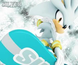 Puzzle de Silver the Hedgehog, el erizo que viene del futuro