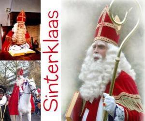 Puzzle de Sinterklaas. San Nicolás trae regalos a los niños en Países Bajos, Bélgica y otros países centroeuropeos