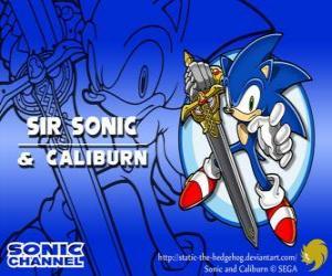 Puzzle de Sir Sonic, Sonic con la espada de caballero