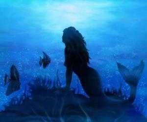 Puzzle de Sirena en el fondo marino