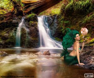 Puzzle de Sirena en el río