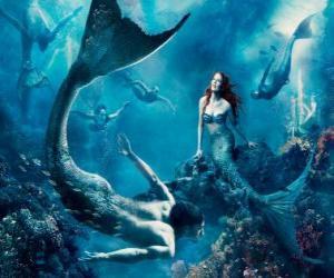 Puzzle de Sirenas en el fondo marino