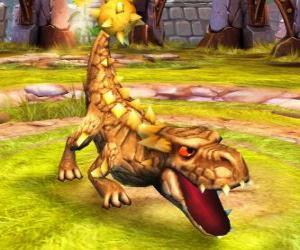 Puzzle de Skylander Bash, el formidable dinosaurio. Skylanders Tierra