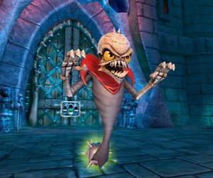 Puzzle de Skylander Ghost Roaster, criatura que come los fantasmas malos. Skylanders Muertos Vivientes