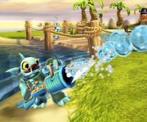 Puzzle de Skylander Gill Grunt, criatura que nunca deja escapar a su presa. Skylanders Agua