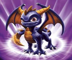 Puzzle de Skylander Spyro, el dragón es un adversario formidable que puede volar y lanzar fuego por la boca. Skylanders Magia