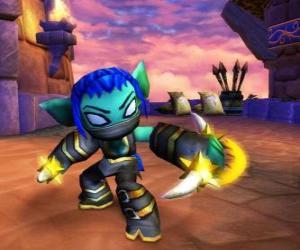 Puzzle de Skylander Stealth Elf, la guerrera ninja. Skylanders Vida
