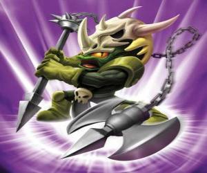 Puzzle de Skylander Voodood, valiente guerrero. Skylanders Mágia