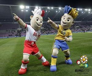 Puzzle de Slavek y Slavko - UEFA Euro 2012 -