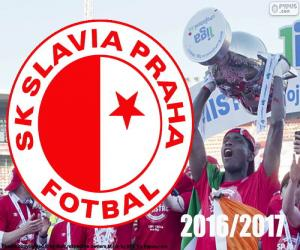 Puzzle de Slavia Praga, campeón 2016-2017