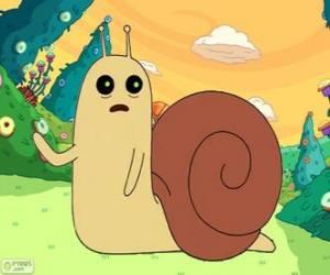 Puzzle de Snail o Caracol, el pequeño caracol de Hora de Aventura