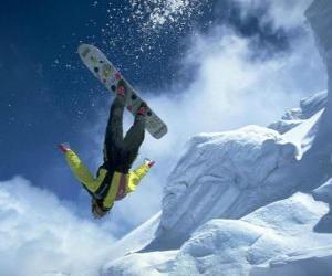 Puzzle de Snowborder en un salto