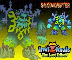 Puzzle de Snowcaster. Invizimals Las Tribus Perdidas. El señor supremo del hielo, un sabio místico y poderoso que vive en los glaciares
