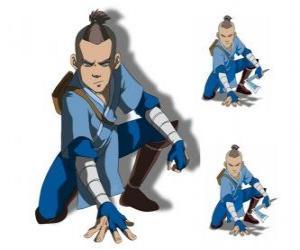 Puzzle de Sokka es un guerrero de 15 años de la Tribu del Agua del Sur que acompaña a Aang