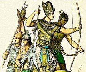 Puzzle de Soldado egipcio con un arco