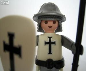 Puzzle de Soldado medieval de Playmobil