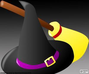 Puzzle de Sombrero y escoba de bruja