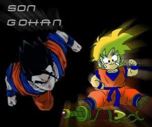 Puzzle de Son Gohan, hijo mayor de Goku, guerrero mitad Saiyajin y mitad humano.