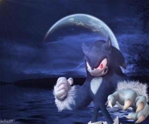 Puzzle de Sonic the Werehog, la transformación más reciente de Sonic, por la noche se transforma en un erizo lobo