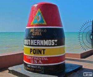 Puzzle de Southernmost Point, (Punto más meridional),  Key West, Florida, Estados Unidos