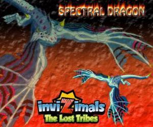 Puzzle de Spectral Dragon. Invizimals Las Tribus Perdidas. Malvado invizimal que garantiza fáciles combates si eres valiente para tenerlo a tu lado