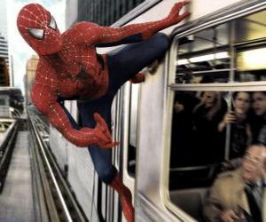 Puzzle de Spider Man en acción