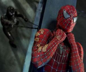 Puzzle de Spiderman atrapado por Venom o Veneno