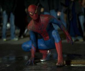 Puzzle de Spiderman en las calles de Nueva York
