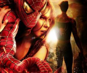 Puzzle de Spiderman junto a Mary Jane