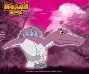 Puzzle de Spiny, Spino. Dinosaurio Spinosaurus, propiedad de Zander de la pandilla Alfa