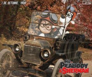 Puzzle de Sr. Peabody y Sherman en su viaje al año 1908