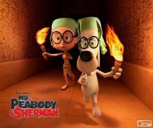 Puzzle de Sr. Peabody y Sherman en una de sus aventuras en Egipto