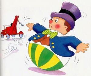Puzzle de Sr. Wobbly, un divertido hombrecito con una base redonda que no puede mentir