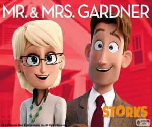 Puzzle de Sr. y Sra. Gardner, Cigüeñas