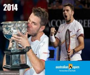 Puzzle de Stanislas Wawrinka Campeón Open Australia 2014