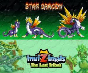 Puzzle de Star Dragon, última evolución. Invizimals Las Tribus Perdidas. El dragon invizimal más valioso