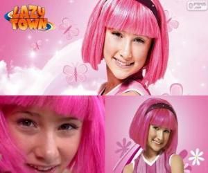 Puzzle de Stephanie, la niña protagonista de Lazy Town a quién le encanta el color rosa