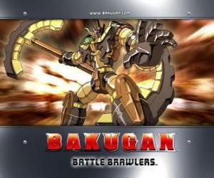 Puzzle de Subterra Gorem es el Bakugan guardián de Julie