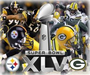 Puzzle de Super Bowl XLV - Pittsburgh Steelers vs Green Bay Packers