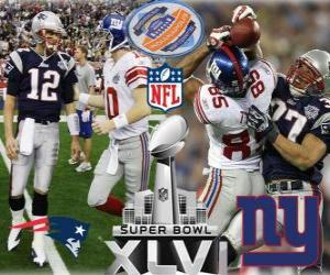 Puzzle de Super Bowl XLVI - New England Patriots vs New York Giants