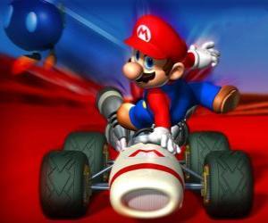 Puzzle de Super Mario Kart, es un videojuego de carreras