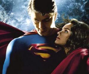 Puzzle de Superman con Lois Lane, su compañera reportera y su verdadero y gran amor